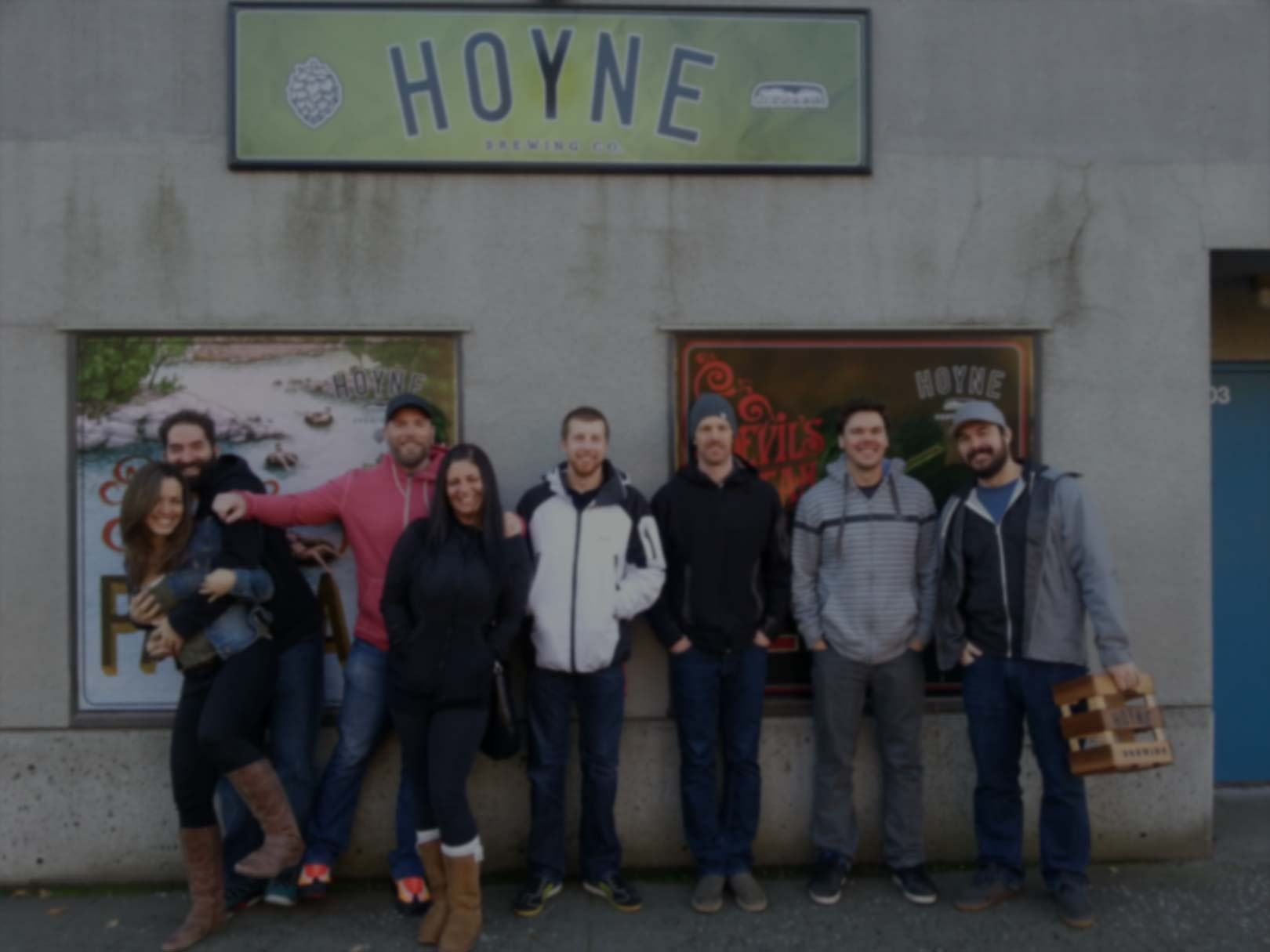 in front of hoyne brewery